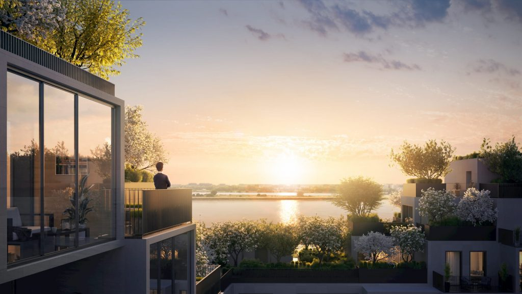 Amazing Residential Building Antwerpen Stefano Boeri Sunset