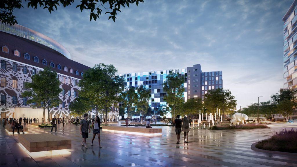 UNStudio new urban ecosystem Siemensstadt West Berlin Plaza Entrance Square
