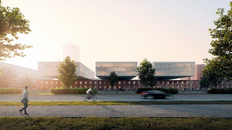 UNStudio new urban ecosystem Siemensstadt West Berlin Street Morning Work