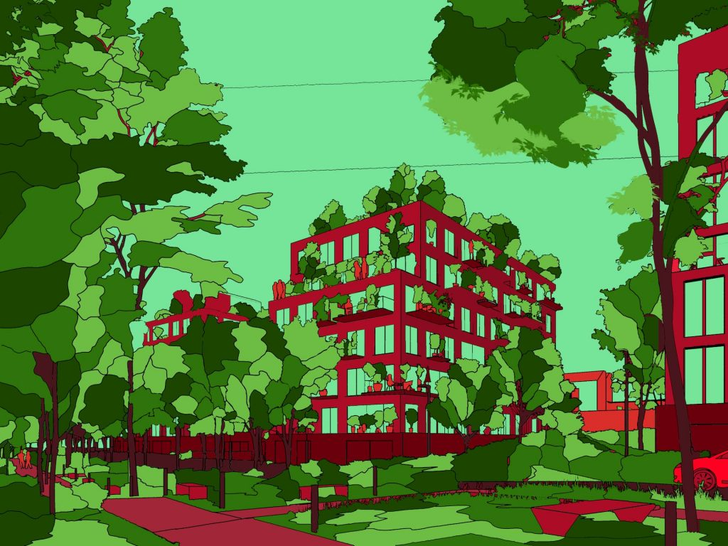 Les Simonettes Residential Development Red Green