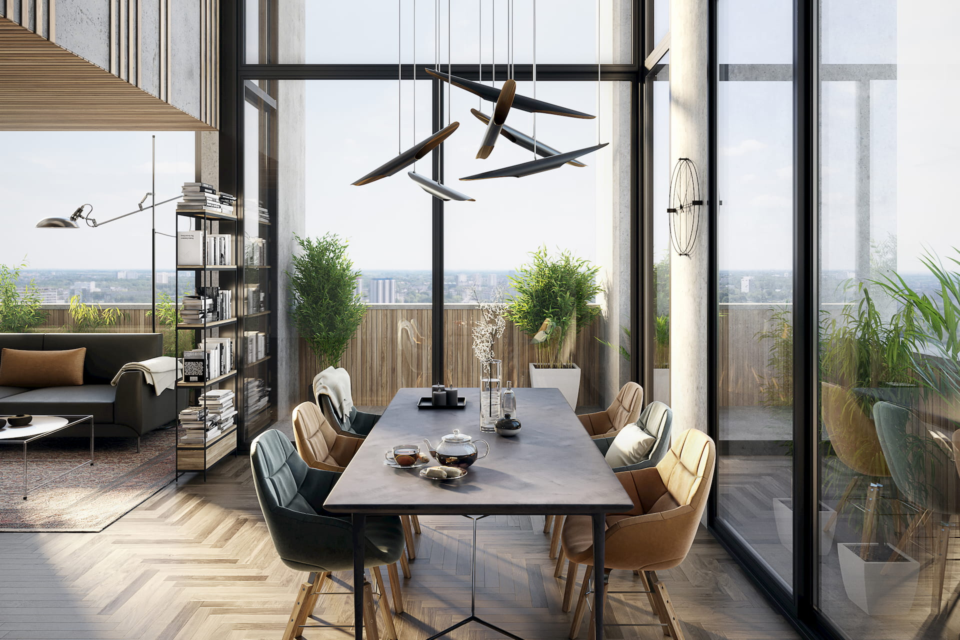 Beautiful Interior Visualization Kitchen Daylight