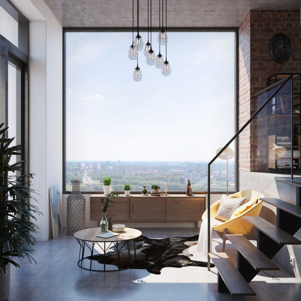 Beautiful Interior Visualization Window Daylight