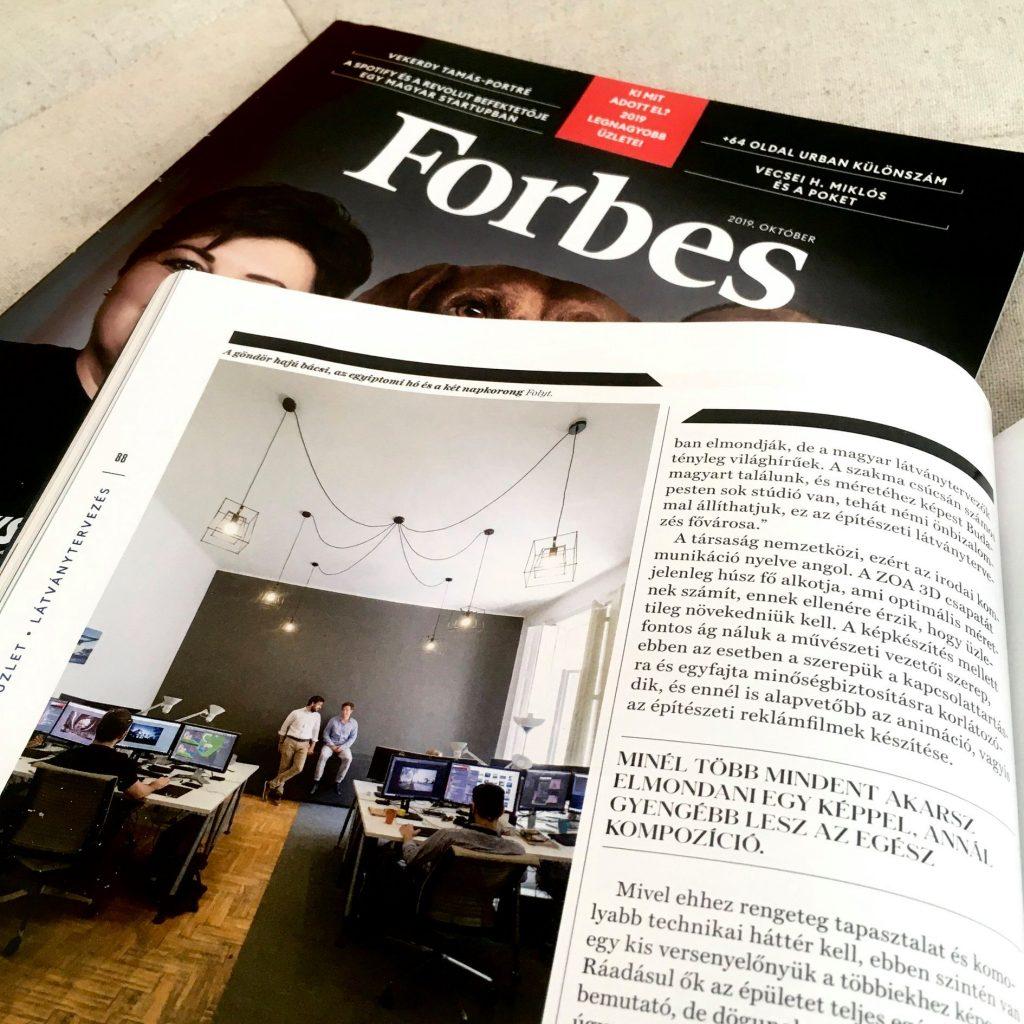 ZOA Studio in Forbes Magazine