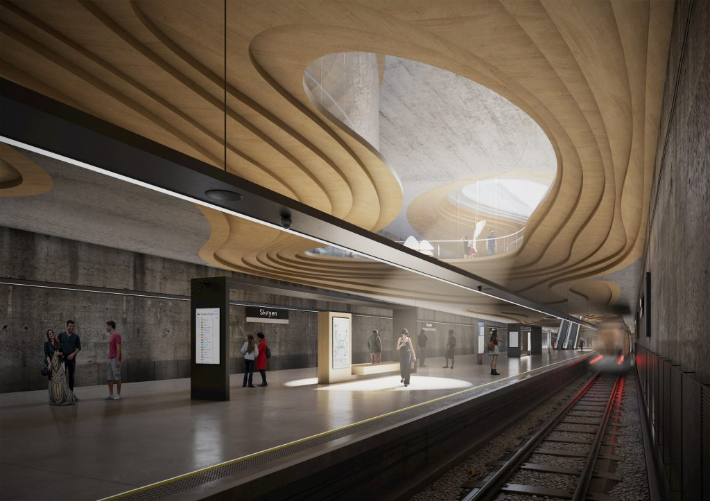 Architectural Renderings for Sporaarchitects Metro Station Oslo Norway Underground