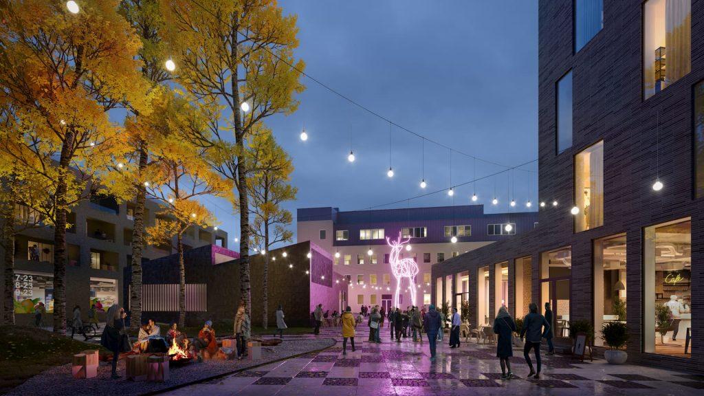 Project Kolu Rovaniemi Residential Development Square