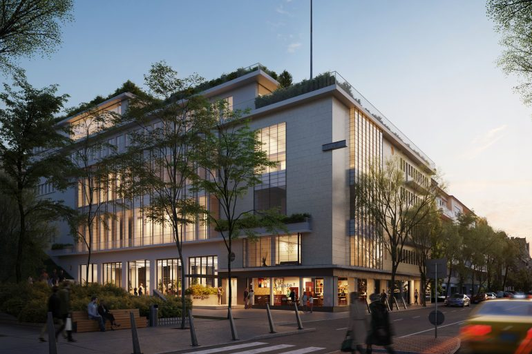 Luxury Residential Building Residence Budapest Night Street Lights