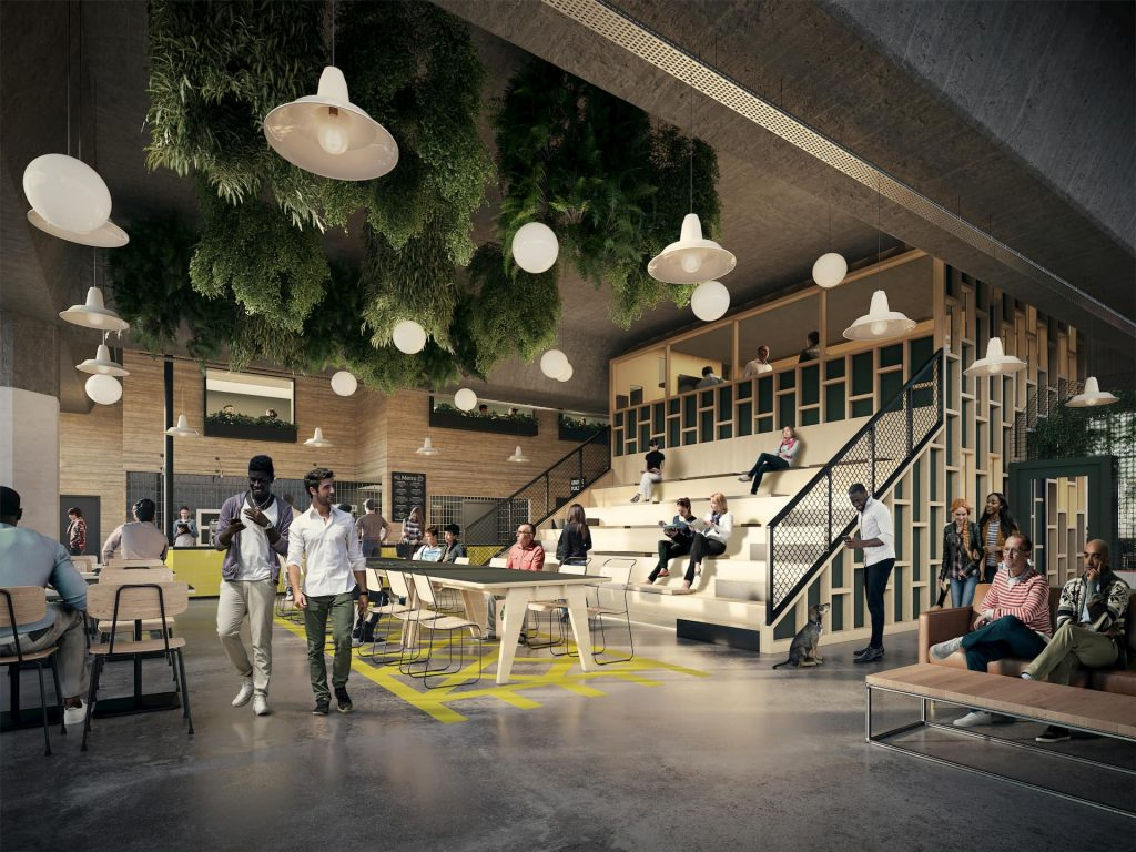 Co-working & office space interior in Brighton