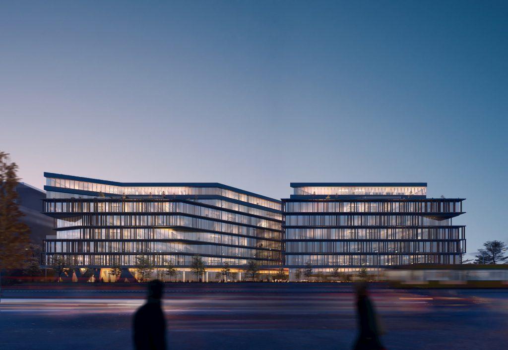Róbert Károly boulevard competition-winning architecture from Sporaarchitects night office building development