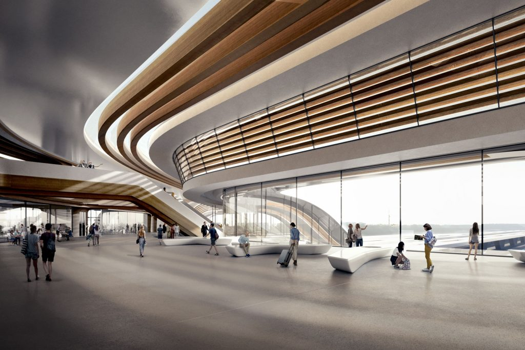 Designed by Zaha Hadid Architects in collaboration with Esplan