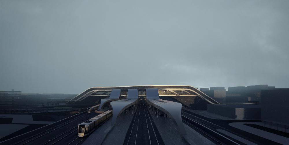 Amazing architectural visualization project for Rail Baltica alongside Zaha Hadid Architects Sunset