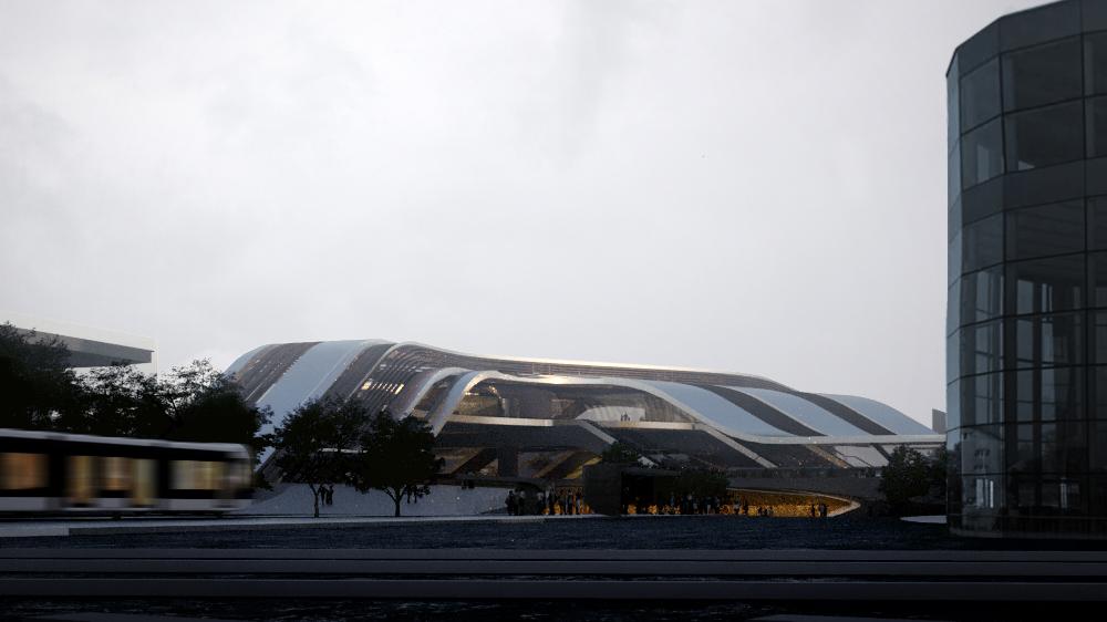 Amazing architectural visualization project for Rail Baltica alongside Zaha Hadid Architects Sketch Sunrise