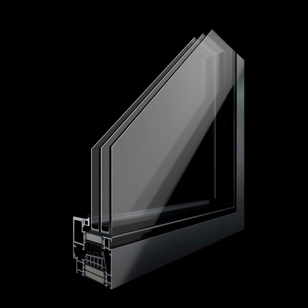 KAV Aluminium Door Mechanism Product Visualization
