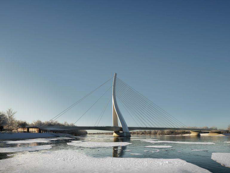 CÉH DANUBE BRIDGE Winter Icy water Danube