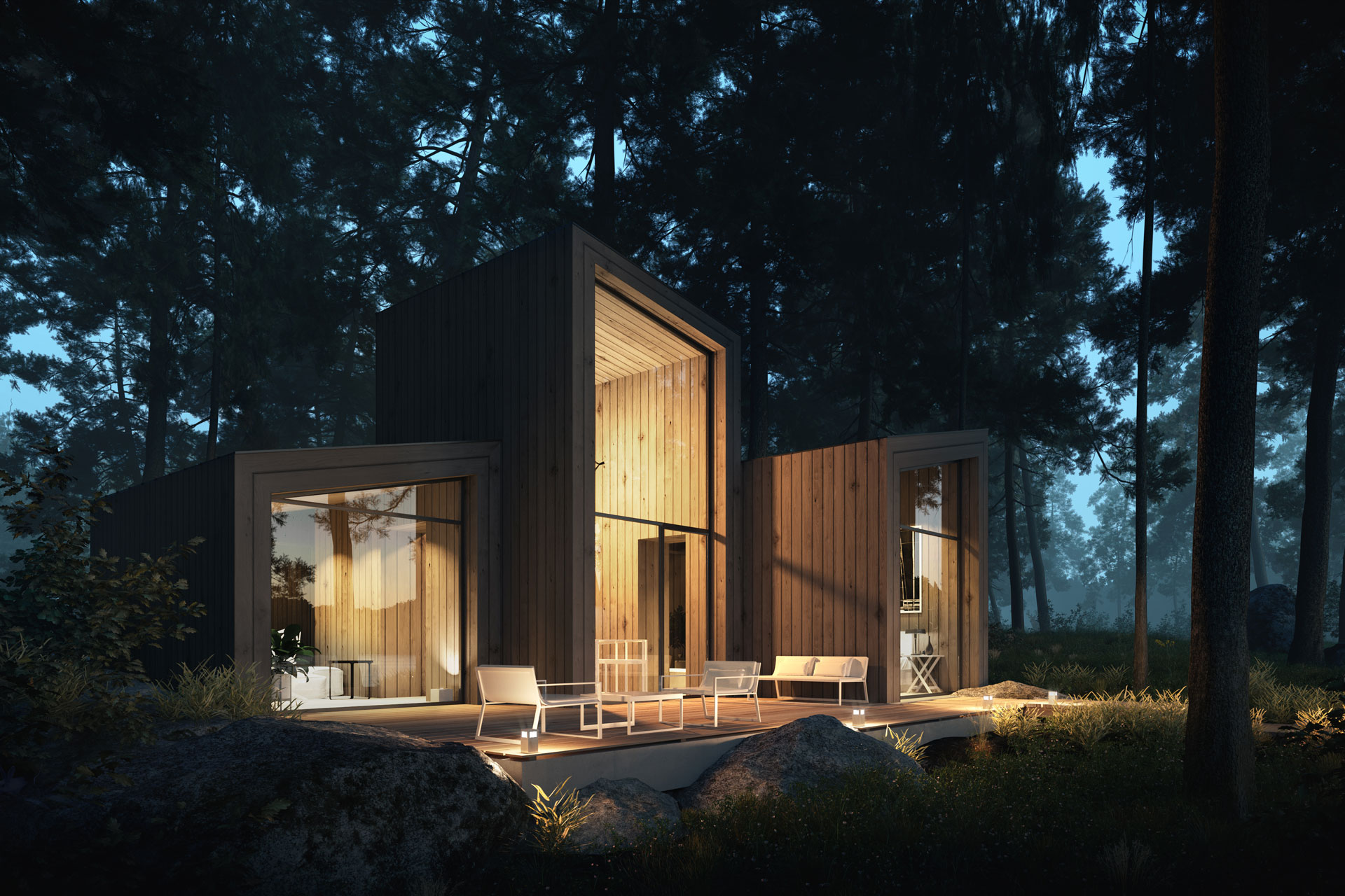 Wooden CABINS In-house projects