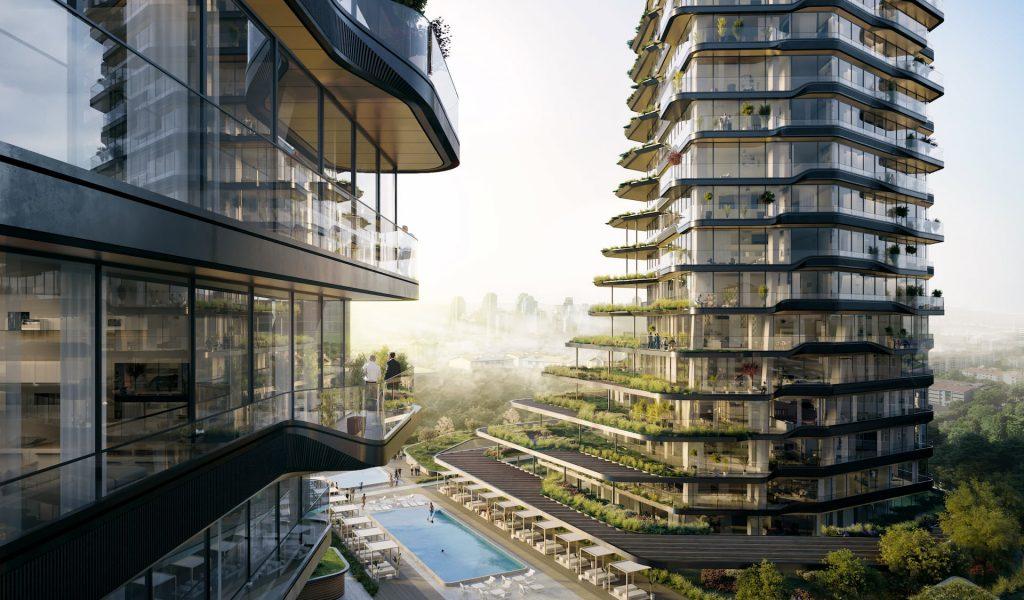 MANDARIN ORIENTAL HOTEL UNStudio Design Greenery Balcony