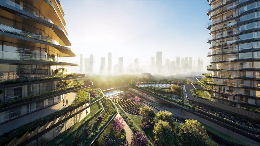 MANDARIN ORIENTAL HOTEL UNStudio Design Greenery Balcony Skyline Sunrise