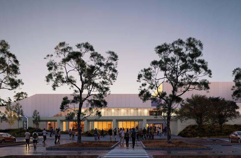 The Heffron Center Architecture Dawn Entrance