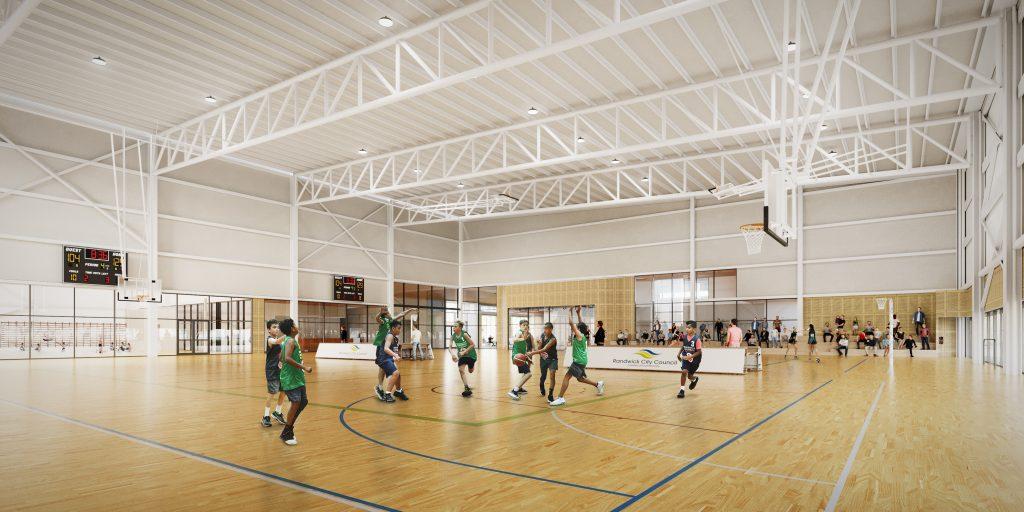 The Heffron Center Interior Basketball