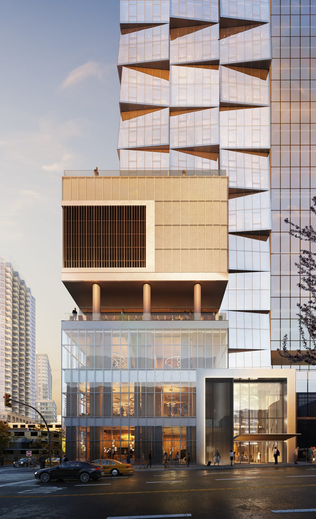Manhattan Midtown Hotel Skyscraper Dusk DSM Design Group