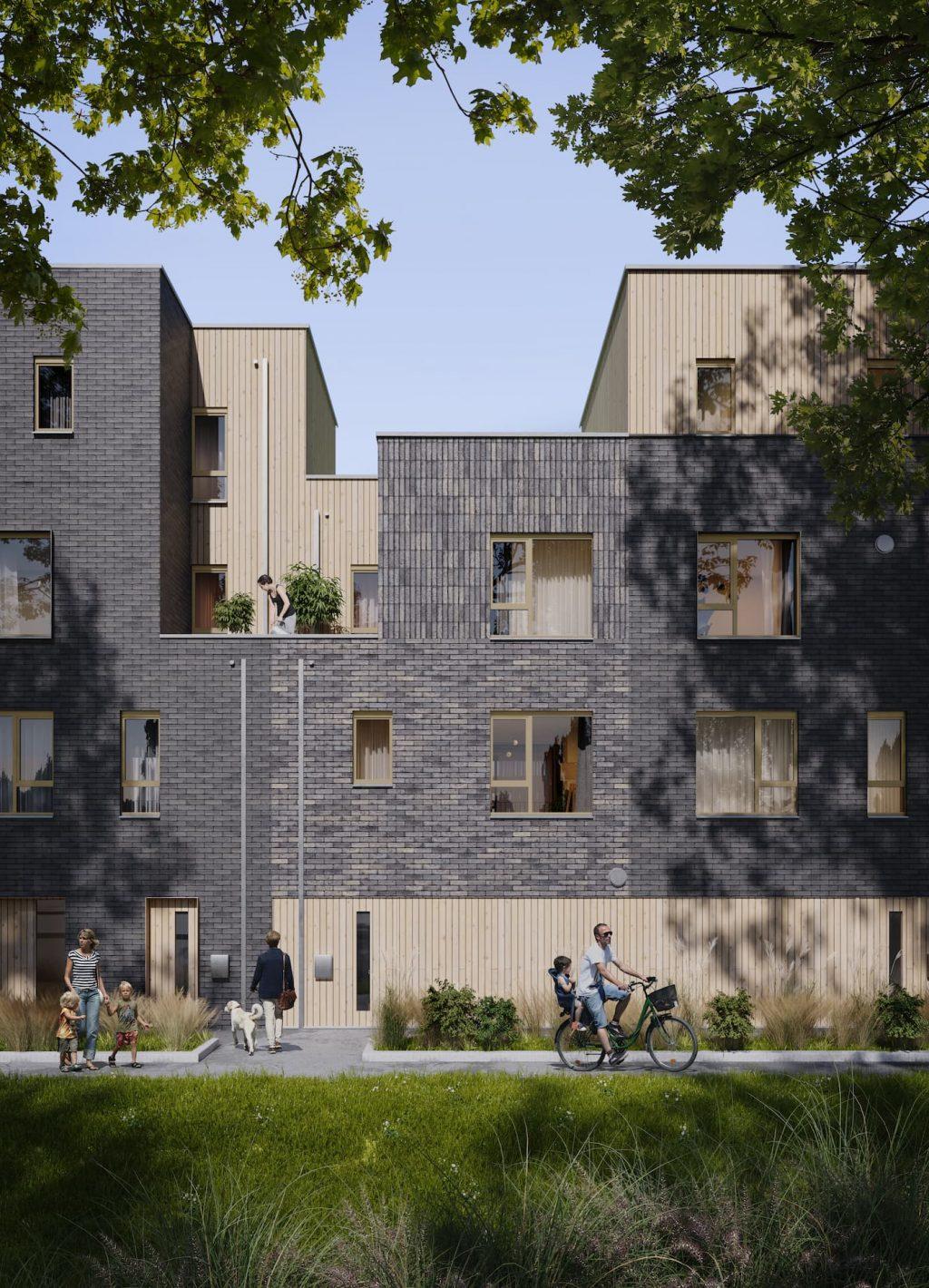 Neo Legia Rives Ardentes Residential Development Liége Belgium apartments portrait sunshine